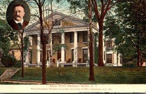 New York Buffalo Wilcox Residence Where President Theodore Roosevelt Took Oat...