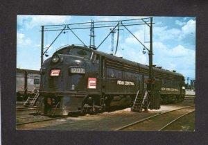 OH Penn Central Railroad Train Locomotive Engine 1707 Toledo Ohio Postcard