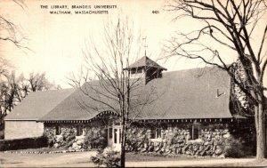 Massachusetts Waltham The Library Brandels University