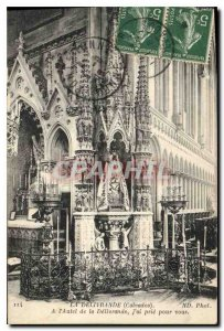 Postcard The Old Delivrande Calvadosa At the Altar of Delivrande I pray for you
