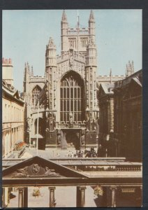 Somerset Postcard - Bath Abbey, West Front and Colonnade    RR6204