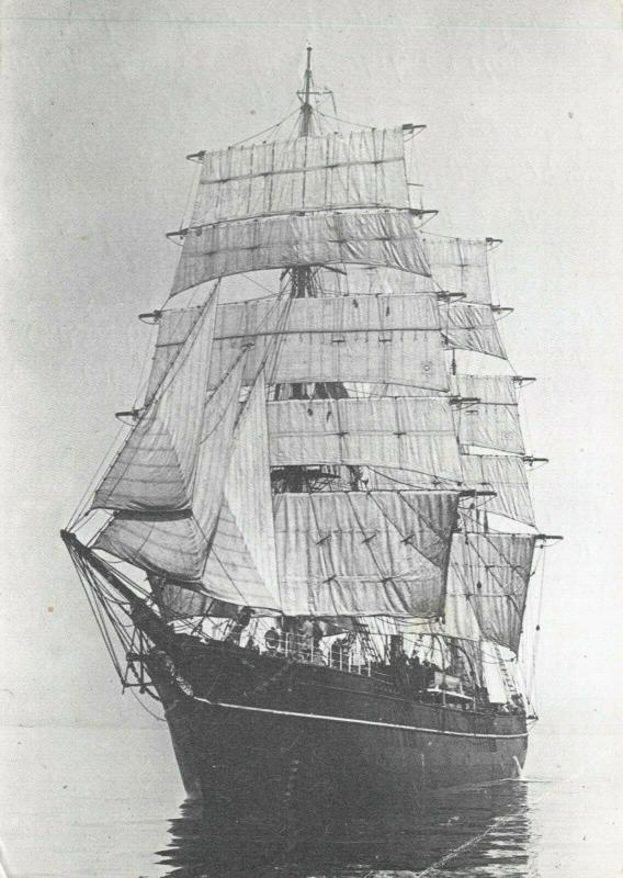 Postcard, DISCOVERY Sail Ship during South Atlantic research work May 1928 61Q