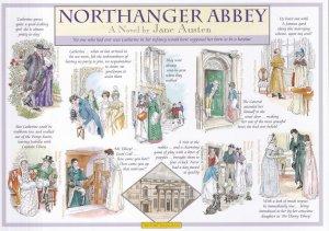 Northanger Abbey Jane Austen Book Giant Rare Postcard