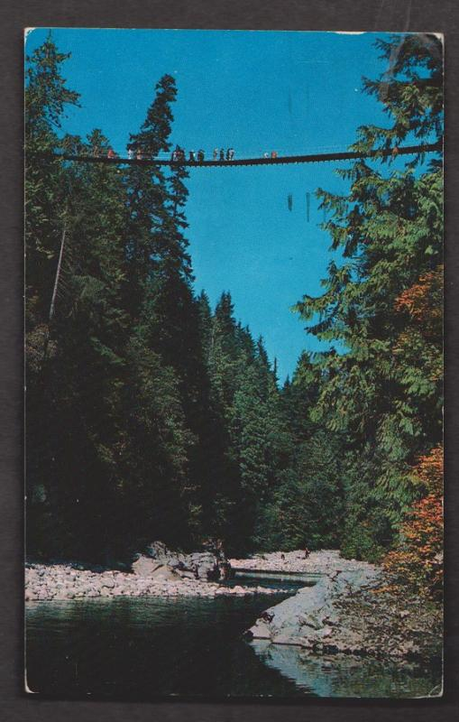 Capilano Canyon Suspension Bridge, North Vancouver BC - Used c1960 Corner Wear