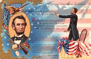 Civil War Post Card Old Vintage Antique Postcard Abraham Lincoln, 1909