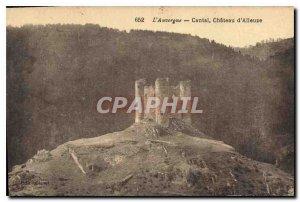 Old Postcard Auvergne Cantal Alleuze Chateau