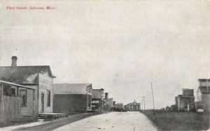 Johnson Minnesota First Street Scene Historic Bldgs Antique Postcard K103764