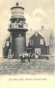 Martha's Vineyard MA Gay Head Lighthouse Postcard