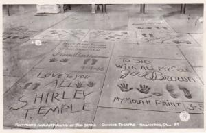 California Hollywood Grauman's Chinese Theatre Footprints & Autographs O...