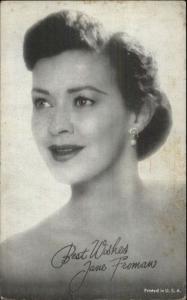 Beautiful Woman Actress Jane Froman Arcade Exhibit Card