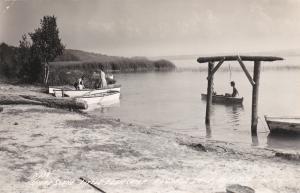 RP; Shore Scene, Little Eden Camp, Portage Lake, ONEKAMA, Michigan, 1930-40s