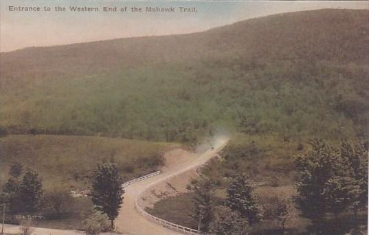 Entrance To The Western End Of The Mohawk Trail Massachusetts Albertype Handc...