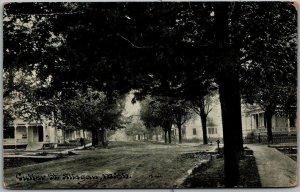Allegan, Michigan Postcard CUTTER STREET Residential Scene Houses 1911 Cancel