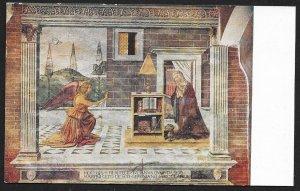 Annunciation Mural of Angel & Woman San Gimignano ITALY Unused c1910s