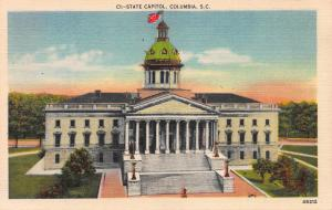 State Capitol, Columbia, South Carolina, Early Postcard, Unused