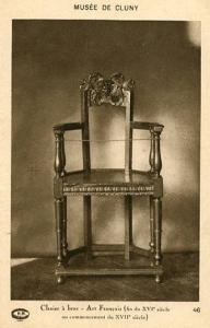 France - Paris, Cluny Museum, Artistic French Armchair