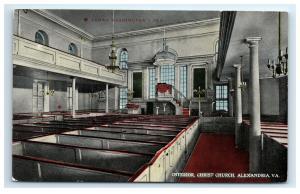 Postcard Interior, Christ Church, Alexandria, VA C25