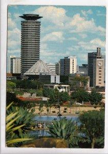 Kenya, Nairobi, City Center, View from Uhuru Park, used Postcard