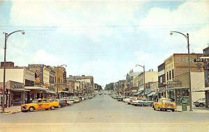 McCook NE Olympia Lunches Taxi Cabs Storefronts Old Cars Postcard