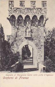 Castello Di Vincigliata Torre Colla Porta d'Ingresso, Contorni Di Firenze (Tu...
