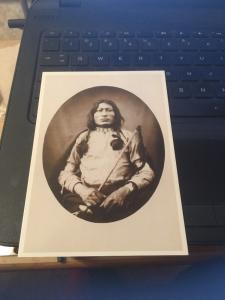 Vtg Postcard: One Bull , Sioux Warrior