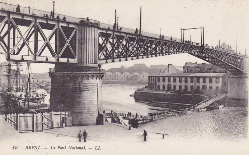 Le Pont National, Brest (Finistere), France, 1900-1910s