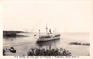 Pugwash Nova Scotia Canada Pit Prop Steamship Real Photo Antique Postcard K57166