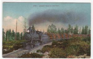 Logging Railroad Train in the West USA 1910c postcard