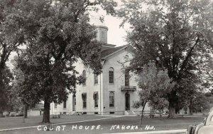 LPSS87 Kahoka Missouri Clarke County Court House Postcard RPPC