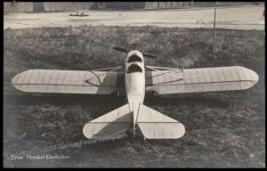 Germany WWI-era Ernst Heinkel Eindecker Airplane  RPPC 65027
