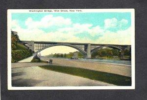 NY Washington Bridge New York City NYC Vintage Postcard