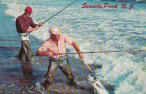 New Jersey Seaside Park Surf Fishing Landing A Big One