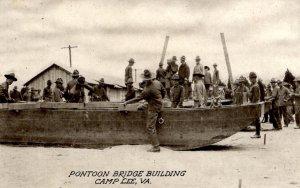 Camp Lee, Virginia - Pontoon Bridge Building - c1914