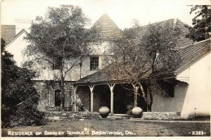 G61/ Brentwood California Postcard RPPC c1930s Shirley Temple Residence