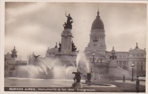 Argentina Buenos Aires Monumento a los dos Congresos Real Photo