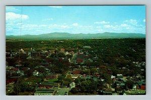 Burlington VT- Vermont, City, Aerial View, Chrome Postcard
