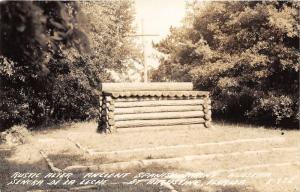 St Augustine Florida~Rustic Alter @ Shrine Nuestra Senora De La Leche~1940s RPPC
