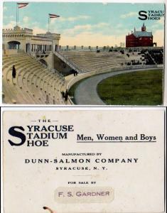 Syracuse Satdium Shoes, Dunn-Salmon Co, Syracuse NY
