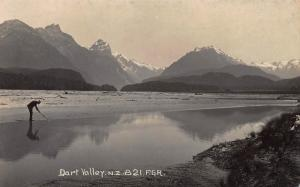 Dart Valley, New Zealand, Early Real Photo Postcard, Unused