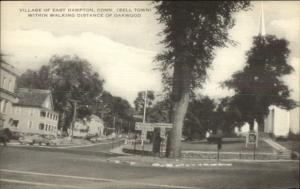 East Hampton CT Village Scene Postcard