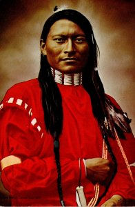 Cheyenne Indian Scout Red-Armed Panther Or Red Sleeve Portrait By L A Huffman