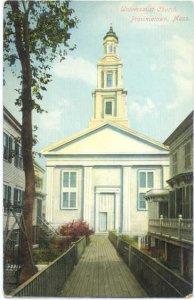 Universalist Church, Provincetown, Cape Cod, Massachusetts MA, Divided Back