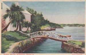 NORWOOD, Bermuda, 1900-1910's; Rustic Bridge