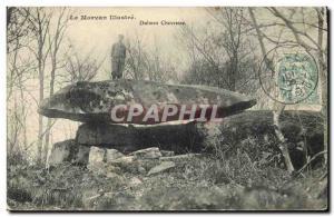 Old Postcard Dolmen Megalith Dolmen Morvan Chevresse Folklore
