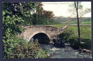 Old Stone Bridge Connellsville PA unused c1910