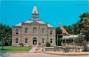 TX, Glen Rose, Texas, Home of the Dinosaurs, Court House, Western Fotocolor 8677