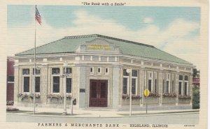 HIGHLAND , Illinois, 30-40s ; Farmers & Merchant Bank