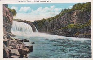 New York Ausable Chasm Rainbow Falls