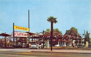Glendale CA College Automatic Car Wash Gas Station 76 Union Old Cars Postcard