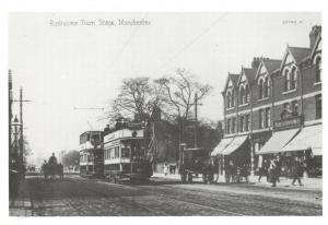 Reproduction Vintage 1908 Postcard, Rusholme Tram Stage, Manchester 87T